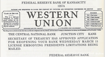 Early Federal Reserve bank note