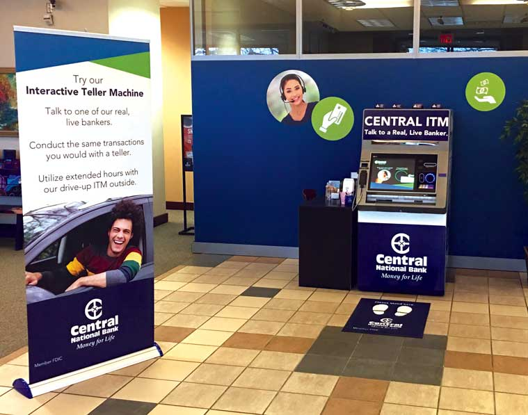 Interactive Teller Machine at Lawrence branch
